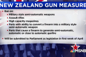 New Zealand PM announces ban on semi-automatic weapons
