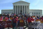 Demonstrators protest 2020 census question outside Supreme Court