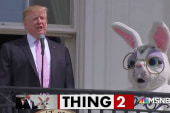 Can Donald Trump deliver a normal speech to kick off the Easter Egg Roll?