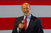 Tom Wolf gives victory speech in Pennsylvania