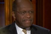 Herman Cain makes a curtain call