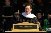 Colbert speaks at Wake Forest graduation