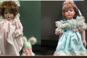 Person leaves dolls in front of Calif. homes