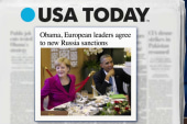 Obama, European leaders agree to sanctions