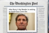 Kerry facing 'blistering' criticism in Israel