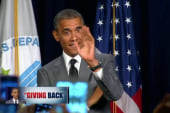Pres. Obama talks about 'giving back'