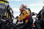 Dog rescued from 300-foot plunge