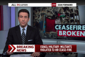 Israel says militants broke cease-fire