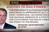 Boehner supports airstrikes, but opposes...