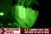 US carries out 2nd airdrop of aid in Iraq