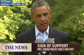 Obama praises Iraq's new government