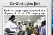 Available Ebola drug supply 'exhausted'