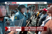 Michael Brown's body returned to family