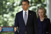 Hillary's political tap dance with Obama