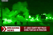 Tear gas used on Ferguson protesters
