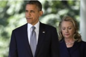 Did Obama and Clinton really 'hug it out?'