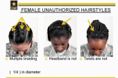 US military changes rules on woman's hair
