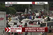 Chris Hayes on the ground in Ferguson
