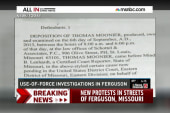 How Ferguson police reported uses of force