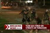 Tear gas fired on streets of Ferguson