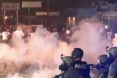 Pre-curfew violence erupts in Ferguson