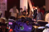 Protests turn violent on streets of Ferguson
