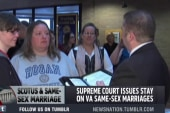 Same-sex marriages in Virginia delayed