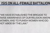 ISIS promotes female terror brigades
