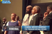 Calls for peace at Brown's funeral