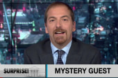 A mystery guest surprises Chuck Todd
