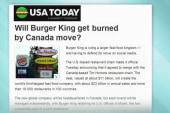 Burger King: Our move isn't 'tax driven'