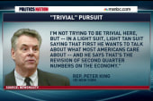 Peter King has a problem with Obama's tan...
