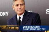 A wedding snub?