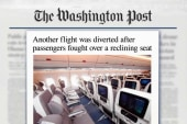 Another flight diverted over a reclining seat