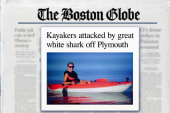 Kayakers survive great white attack