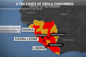 Almost 5,000 cases of Ebola reported globally