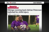 Who is defending Adrian Peterson?
