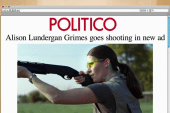 Grimes picks up gun, goes shooting in new ad