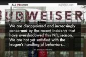 Sponsors take notice of NFL scandals