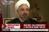 Iran's president condemns ISIS beheadings