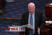 Sen. John McCain flip flops on ground troops