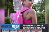Cancer survivor, 11, develops IV backpack