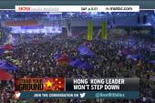 Embattled HK leader won't resign