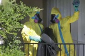 Authorities sweep home of Ebola patient