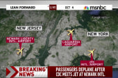 Passengers deplane after CDC meets jet at...
