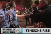 Police, protestors clash in Ferguson