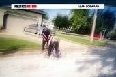 Police dog attacks handcuffed man