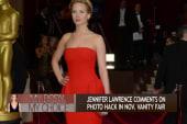 Jennifer Lawrence reacts to photo hack