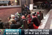 Sit-in staged by protesters at gas station