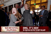This girl is SO excited to meet Hillary...